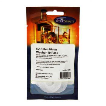 Still Spirits EZ Filter 40mm Washer 10 Pack Home Brew Resistant Polyethylene