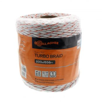 Gallagher G62174 Turbo Equi Braid 200m (656 ft) UV Stabilised Electric Fencing