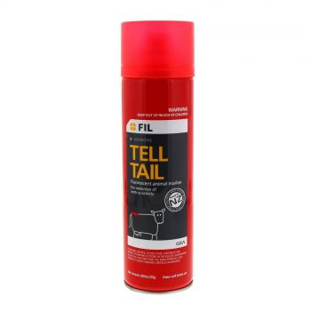 Tell Tail Fluorescent Animal Marking Paint Red 500ml Aerosol Spray Can