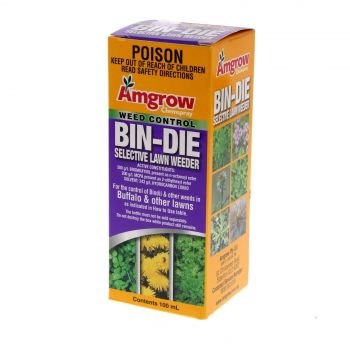 Bin-Die Herbicide 100ml Formulated For Buffalo Lawns Couch Bent Kikuyu Herbicide