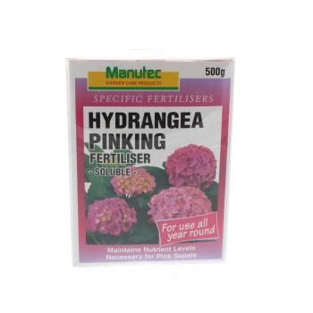 Hydrangea Pinking Agent Soluble Fertilizer For Use All Year Round Manutec 500g