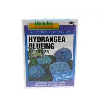 Hydrangea Blueing Fertiliser Soluble Maintains Nutrient Levels Manutec 500g