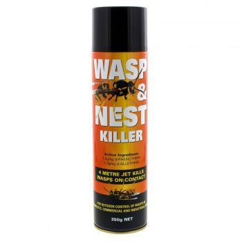 Wasp And Nest Killer 350g Outdoor Control Sprays Up To 4 Metres Fast Acting