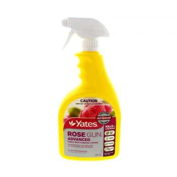 Rose Gun Advanced Black Spot Aphids Catepillers Two Spotted Mites Yates 50ml