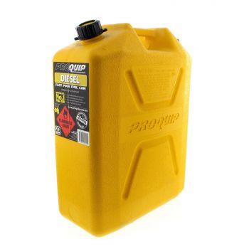 Fuel Can Diesel 20L Diesel Yellow Plastic Distinctive Heavy Duty Australian