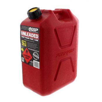 Fuel Can 10L ULP Red Plastic Slip Resistant Australian Standard Heavy Duty
