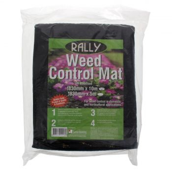 Weed Mat 1.83m x 10m Woven Polypropylene Fabric Rally Weed Control UV Stabilised