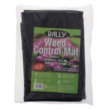 Weed Mat 1.83m x 5m Woven Polypropylene Fabric Rally Weed Control UV Stabilised