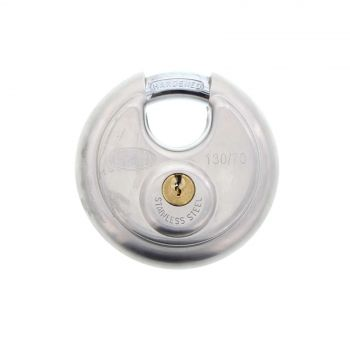 Padlock 70mm Stainless Steel Cylindrical Hardened Shackle 130/70 Lockwood