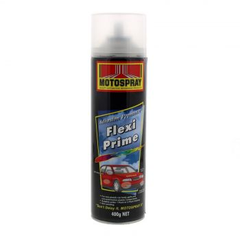 Flexi Prime Spray Paint Can 400g Motospray Quick Dry Clear Automotive Plastic