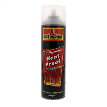 Heat Proof Clear Spray Paint Can 400g HiChem Resistant To 800C High Temperatures