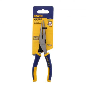 Plier Long Nose 150mm (8 Inch) Irwin Induction Hardened Cutting Edge Sharp Tip