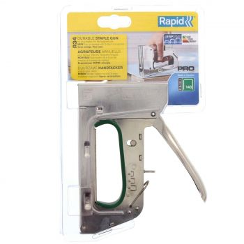 Staple Gun Extra Heavy Duty #34 Rapid Tacker R34 Powerful Professional Precision