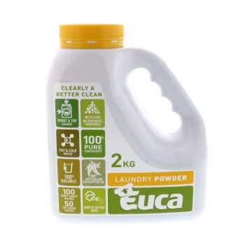 Euca Laundry Powder 2kg 106F 100% Australian eucalyptus oil Made in Australia