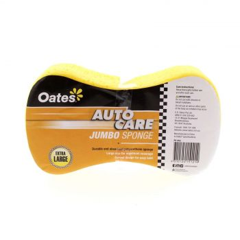Sponge Car Dog Bone Jumbo 23 x 12cm Easy to Hold Curved Design Oates