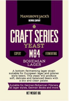 Mangrove Jacks M84 Bohemian Lager Yeast 10g Home Brew
