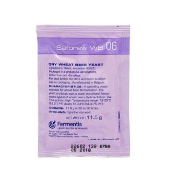 SafAle WB-06 Dry Wheat Beer Yeast 11.5g Sachet Home Brew