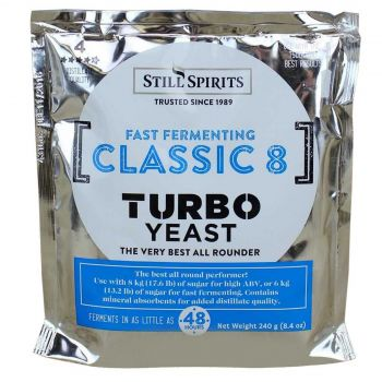 CLASSIC 8 Turbo YEAST Still Spirits 1 Pack Home Brew Best All Rounder Spirits