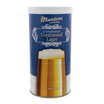 Muntons Connoisseurs Continental Lager 1.8kg Light Amber Hoppy Lager Home Brew