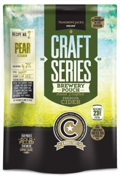Pear Cider Brewery Pouch 2.4kg Mangrove Jacks Home Brew