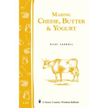 Making Cheese Butter & Yoghurt Book By Ricki Carroll Includes Recipes & Tips