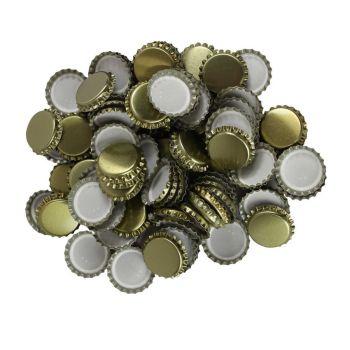 Crown Bottle Seals Cap x250 Caps - Gold Colour Home Brew