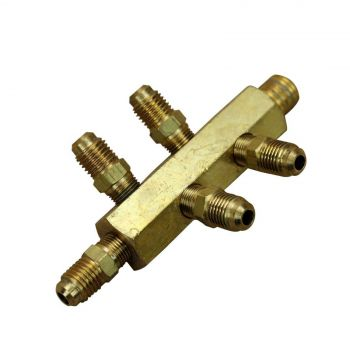 FOXX Gas Manifold 5 Way Assembly 0.63cm MPT (In) x 0.63cm MFL (Out) Home Brew