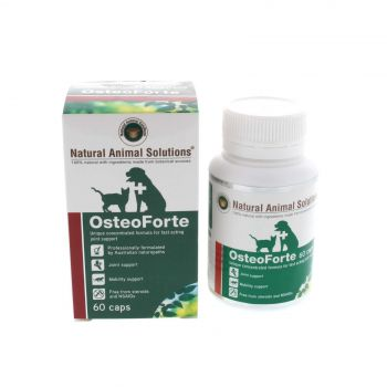 Osteoforte 60 Caps Dog Cat Joint Mobility Support Natural Animal Solutions