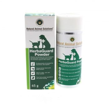 Dog Cat Insect Repellent Powder HerbaGuard 65g Natural Animal Solutions