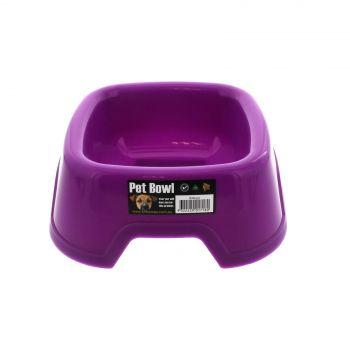 K9 Homes Plastic Small Bowl Purple Tough Durable Easy To Clean Convenient
