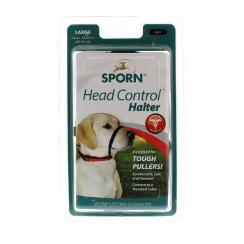 Sporn Head Halter Black Large Dog Stops Pulling Recommended By Trainers Safe