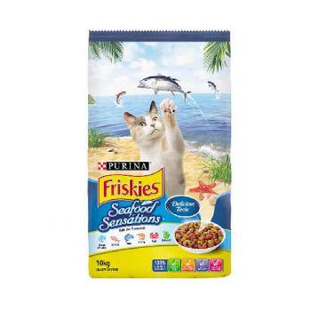 Friskies Cat Food Seafood Sensations 10kg Purina Premium Dry Food Health
