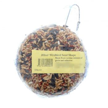 Wild Bird Disc Seed Shape 220g Bird Food Treat Mixture Grains Feed Ready To Eat