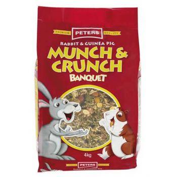 Peters Rabbit & Guinea Pig Munch & Crunch Banquet Pet Food 4kg Premium Quality