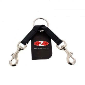 Double Clip Black Zilco Horse Equine Made From SFL Webbing Nickel Plated Snaps