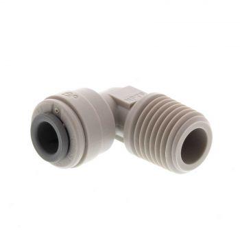 Quick Connect Fitting Rigid Elbow 1/4T x 1/4M Inch Puretec