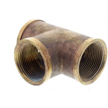 Tee Brass Fitting 1 1/4 Inch Plumbing Water Irrigation