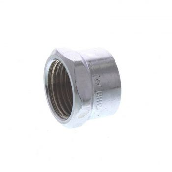 Cap Chrome Plated Brass Fitting 1/2 Inch Plumbing Water Irrigation