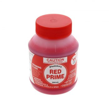 Stormwater Priming Fluid PVC Red 250ml For Glue Repair Joining Pipe Plumbing