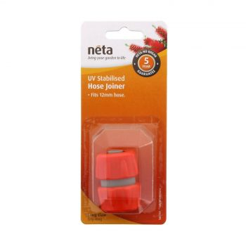 Neta Hose Joiner-Repairer 12mm Hose UV Stabilised Long Claw Grip Ring Garden