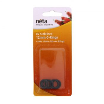 Neta O Rings Suit 12mm Click On Fittings 5 Pack UV Stabilised Garden Fitting