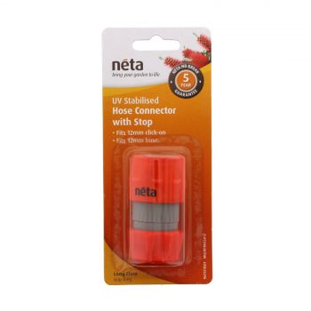 Neta Hose Connector With Stop 12mm Click On UV Treated Long Claw Grip Ring