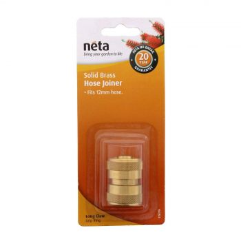 Neta Brass Hose Joiner-Repairer 12mm Hose Screw Fitting Long Claw Grip Ring