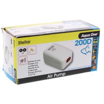 Stellar 200D Air Pump 2 x 100 L/hr 3W Fish Tank Aquarium Aqua One 94135