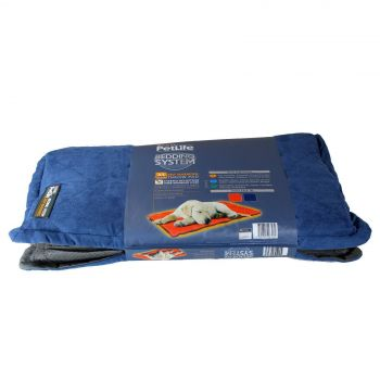 Dog Bed Cat Self Warming Pad Blue/Charcoal Medium/Large Petlife Odour Resistant