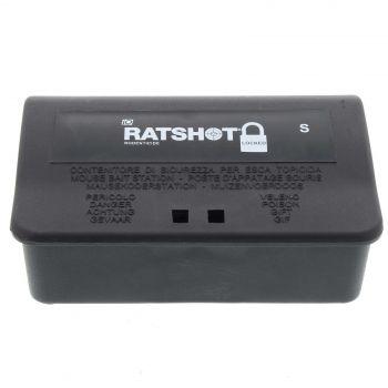Rat Shot Small Lockable Bait Station Trap Mouse Rat 14 x 9 x 5cm