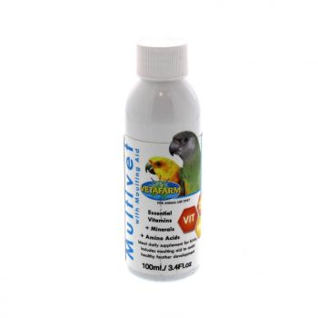 Vetafarm Multivet With Moulting Aid 100ml Supplement Treatment Essential