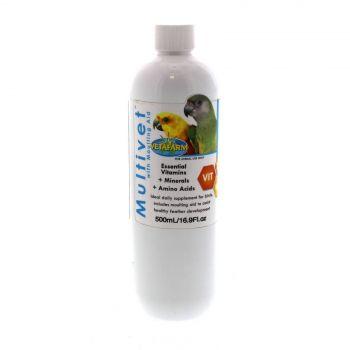 Vetafarm Multivet With Moulting Aid 500ml Supplement Treatment Essential