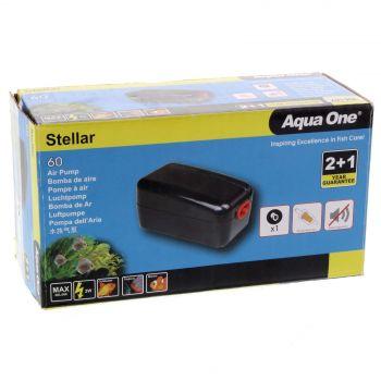 Stellar 60 Air Pump 60 L/hr 2W Fish Tank Aquarium Aqua One 94132