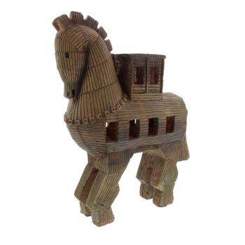 Ornament Trojan Horse 24 x 8.5 x 29cm Fish Tank Aquarium Aqua One 37118